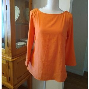 Size M Banana Republic orange top